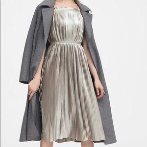NWT Banana Republic Pleated Strappy Midi Dress